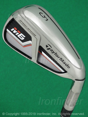 Back side of TaylorMade M6 Speed Bridge Irons head - the primary means to identify a club