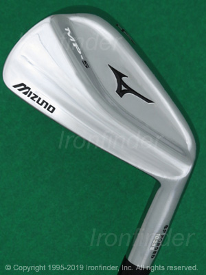 Back side of Mizuno MP-5 Irons head - the 