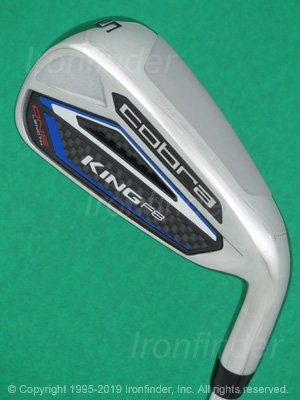 Back side of Cobra KING F8 ONE Length Irons head - the 