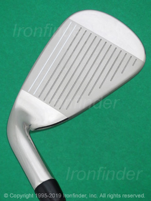 Face side of Callaway ROGUE X CF18 Cup 360 Irons head