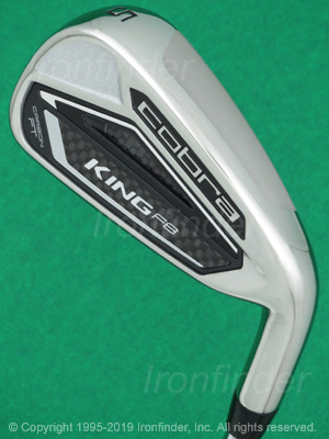 Back side of Cobra KING F8 Carbon FT Irons head - the primary means to identify a club