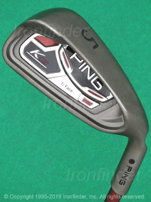Back side of Ping K15 Ti Face Irons head - the 