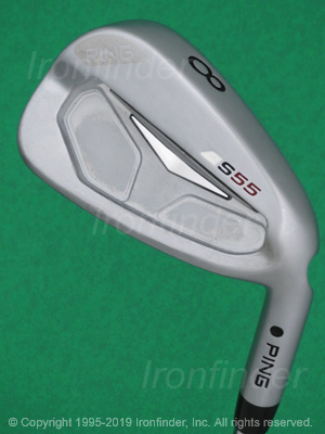 Back side of Ping S55 Irons head - the 