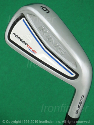 Back side of Cobra KING Forged ONE Length Irons head - the primary means to identify a club