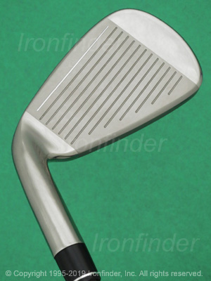 Face side of TaylorMade M2 (fluteless hosel) Irons head
