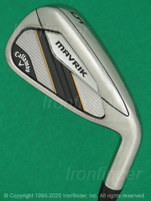 Back side of Callaway MAVRIK Irons head - the 