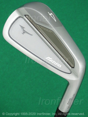 Back side of Mizuno MP-18 MMC Irons head - the 