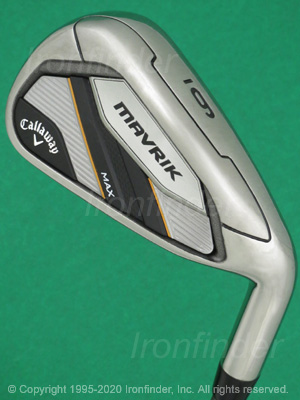 Back side of Callaway MAVRIK MAX Irons head - the primary means to identify a club