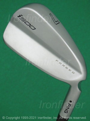 Back side of Ping i500 Forged Irons head - the primary means to identify a club
