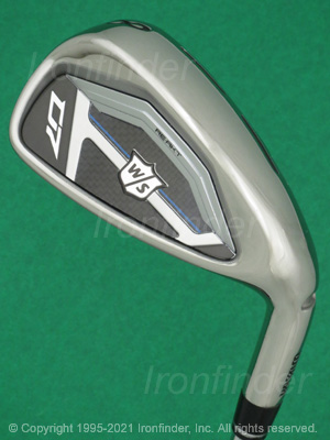 Back side of Wilson Staff D7 RE-AKT Irons head - the primary means to identify a club