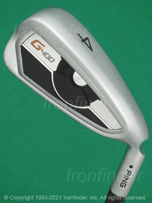 Back side of Ping G400 Irons head - the 