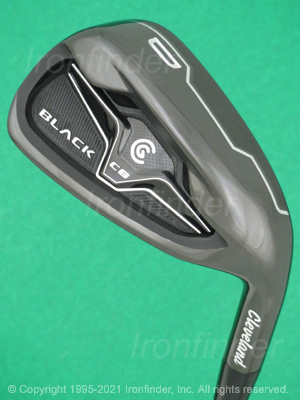 Back side of Cleveland CG Black CB Irons head - the primary means to identify a club
