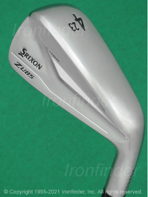 Back side of Srixon Z U85 Forged Irons head - the primary means to identify a club