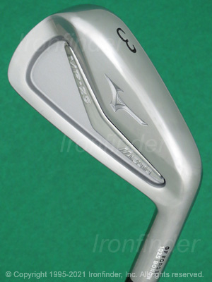 Back side of Mizuno MP-25 Irons head - the primary means to identify a club