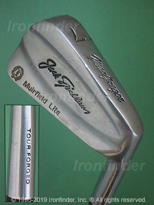 Back side of MacGregor Nicklaus MUIRFIELD Lite Irons head - the 