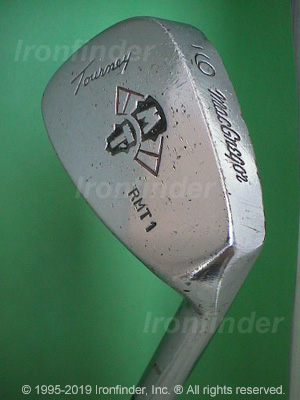 Back side of MacGregor MT Tourney RMT1 Irons head - the 