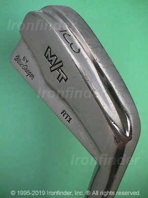 Back side of MacGregor M T by MacGregor RT1 (split sole) Irons head - the primary means to identify a club