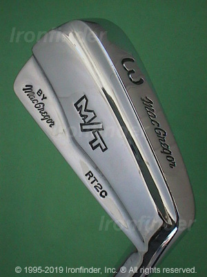 Back side of MacGregor M T by MacGregor RT2 (std sole) Irons head - the 