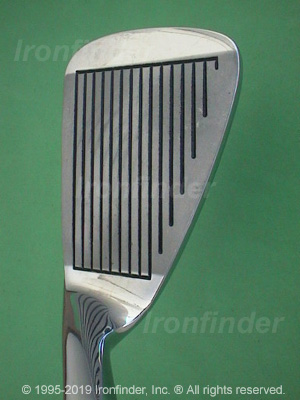 Face side of MacGregor VIP Jack Nicklaus (std face scoring) Irons head