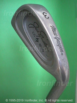 Back side of MacGregor CG1800 Irons head - the 