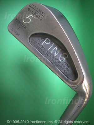 Back side of Ping Karsten I (Pat. Pend. no dot) Irons head - the 