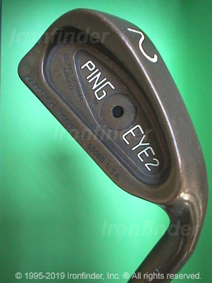 Back side of Ping Eye2 BeCu Irons head - the 