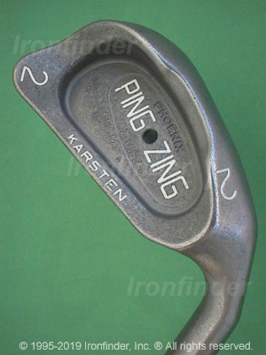 Back side of Ping Zing Irons head - the 