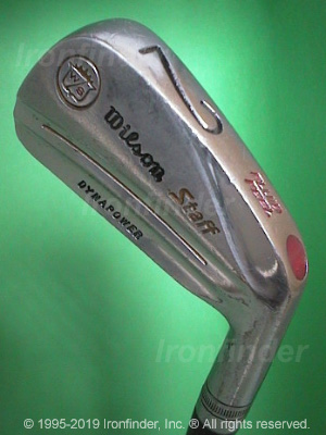 Back side of Wilson DYNAPOWER Staff Irons head - the 