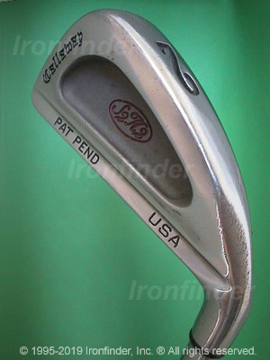 Back side of Callaway S2H2 PAT PEND USA Irons head - the primary means to identify a club