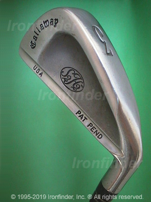 Back side of Callaway S2H2 USA PAT PEND Irons head - the 