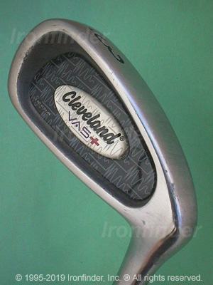 Back side of Cleveland VAS+ Irons head - the primary means to identify a club