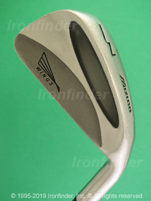 Back side of Mizuno Wings (under bird logo) Irons head - the 
