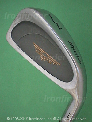 Back side of Mizuno Wings (logo in cavity) Irons head - the 
