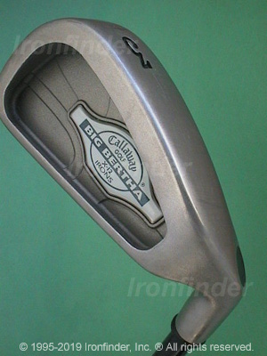 Back side of Callaway Big Bertha X-12 Irons head - the primary means to identify a club