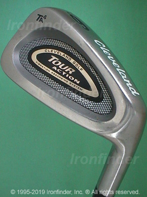 Back side of Cleveland Tour Action TA4 Irons head - the primary means to identify a club