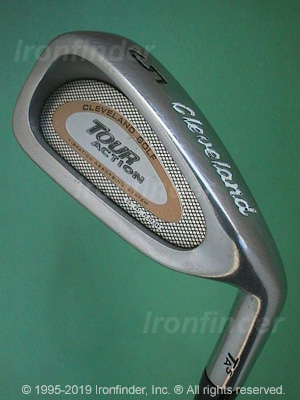 Back side of Cleveland Tour Action TA5 Gold Irons head - the 