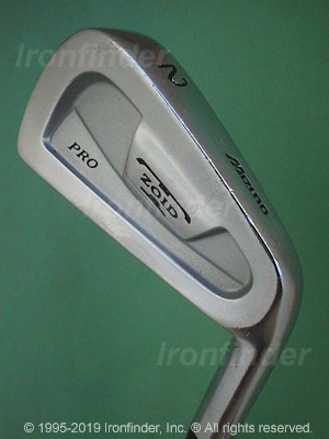Back side of Mizuno T Zoid Pro Irons head - the 