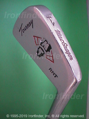 Back side of MacGregor MT Tourney RMT Irons head - the 