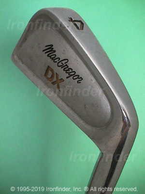 Back side of MacGregor DX (dull bulged back) Irons head - the 