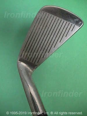 Face side of MacGregor DX (dull bulged back) Irons head
