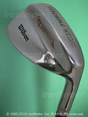 Back side of Wilson Harmonized Wedges Irons head - the 