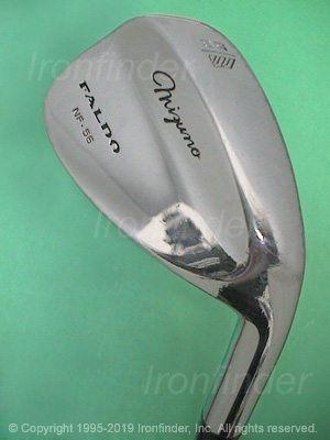 Back side of Mizuno Faldo Irons head - the 