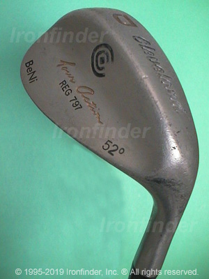 Back side of Cleveland Tour Action BeNi REG 797 Irons head - the primary means to identify a club