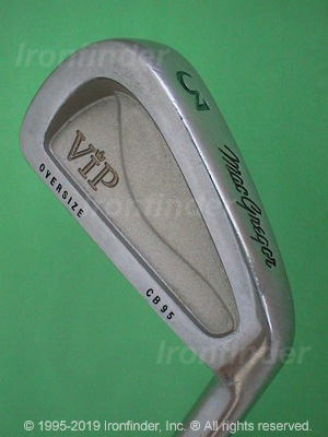 Back side of MacGregor VIP Oversize CB95 Irons head - the 