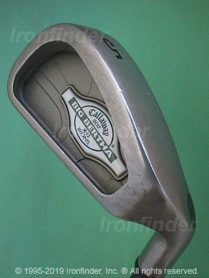Back side of Callaway Big Bertha X-12 Ladies Irons head - the 