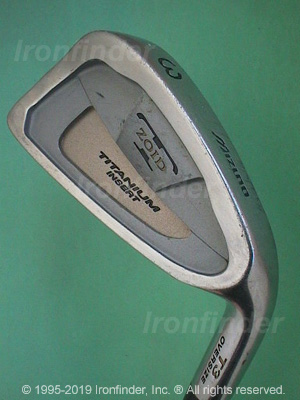 Back side of Mizuno T Zoid Titanium Insert T3 Oversize Irons head - the 