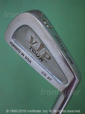 Back side of MacGregor VIP Tour CB92 Irons head - the 