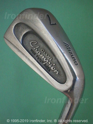 Back side of Mizuno Champion Wide Sweet Area Irons head - the 