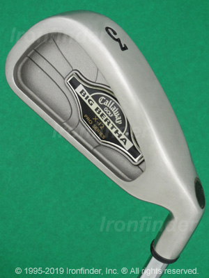Back side of Callaway Big Bertha X-12 Pro Series Irons head - the 