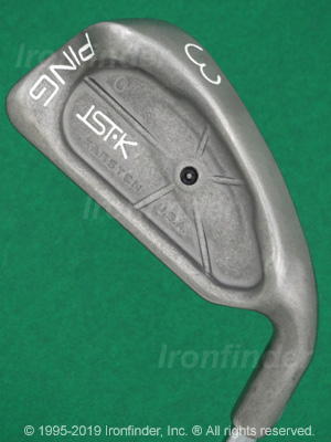 Back side of Ping ISI-K Irons head - the 